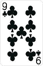 9 треф (крести)