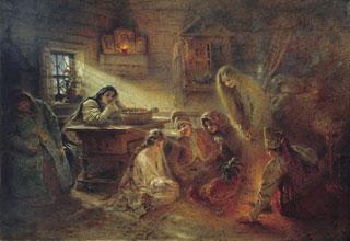 К. Е. Маковский. «Святочные гадания». 1900-е.